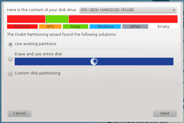 OpenMandriva 2014 Lx partitions