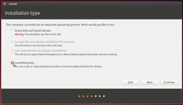 Ubuntu 14.04 partition methods