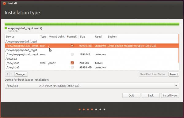 Ubuntu 14.04 partitions