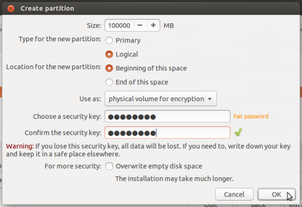 Ubuntu 14.04 encrypted root partition