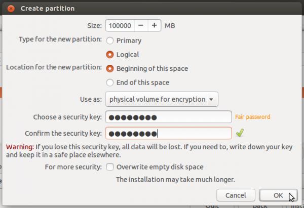 Ubuntu 14.04 encrypted root partition