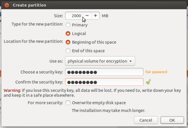 Ubuntu 14.04 encrypted swap partition