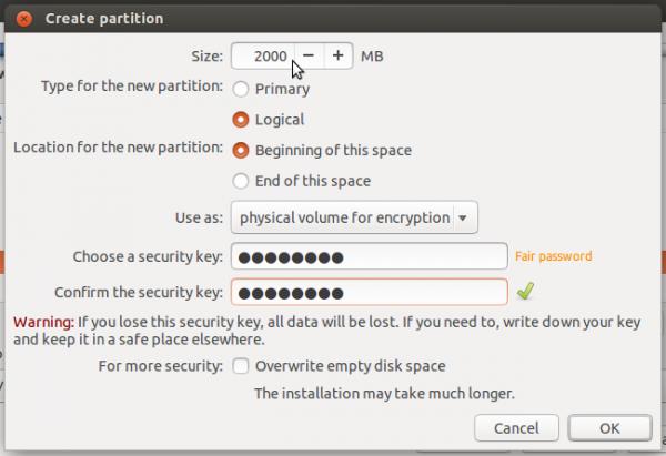 Ubuntu 14.04 encrypted swap partition