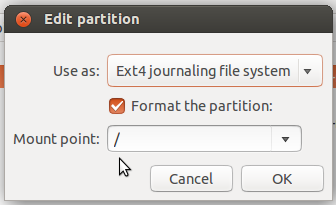Ubuntu 14.04 root partition
