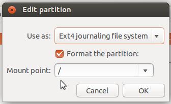 Ubuntu 14.04 root partition