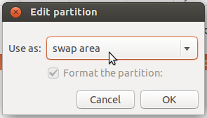 Ubuntu 14.04 swap partition