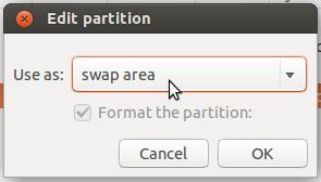 Ubuntu 14.04 swap partition