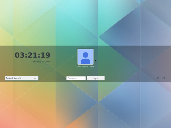 KDE Plasma Next login screen