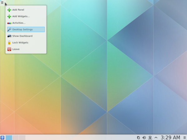 KDE Plasma Next desktop