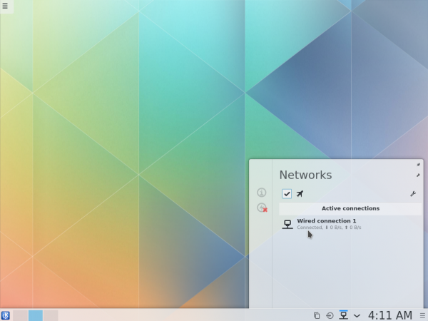 KDE Plasma Next network manager