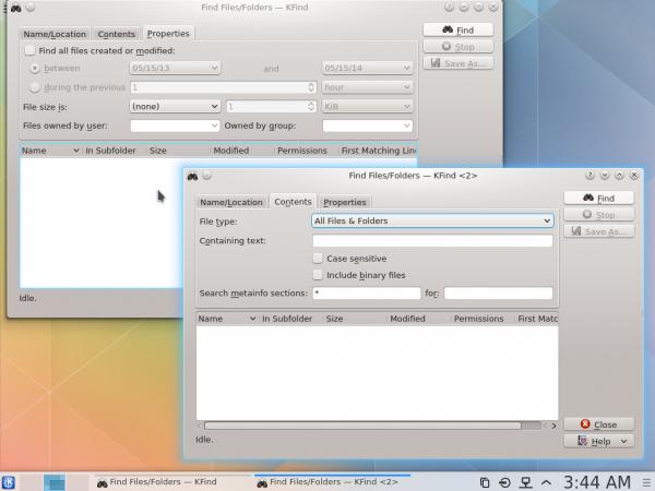 KDE Plasma Next KFind