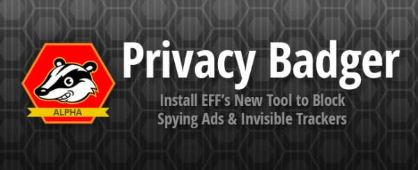 Privacy Badger online tracking browser extension