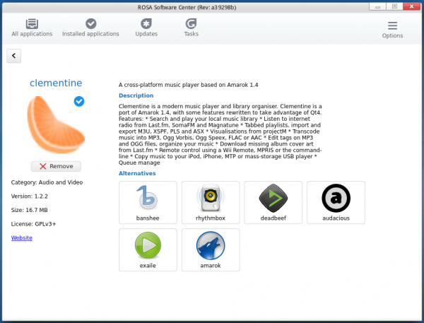 ROSA Software Center app