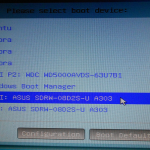 How to delete boot managers from a UEFI boot menu