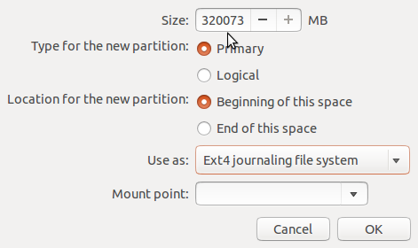 Ubuntu partition editor
