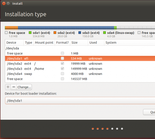 Ubuntu 14.04 EFI boot device