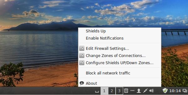 Firewall-applet Linux Mint 17 Cinnamon