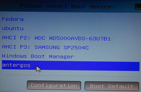 Modify EFIbootmgr