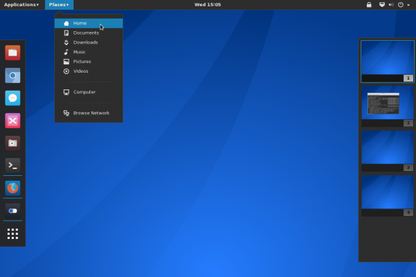 GNOME 3 Places menu