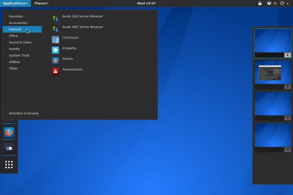 GNOME 3 App menu