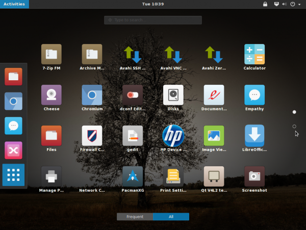 GNOME 3.12 app view