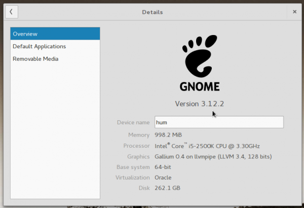 GNOME 3.12 version information