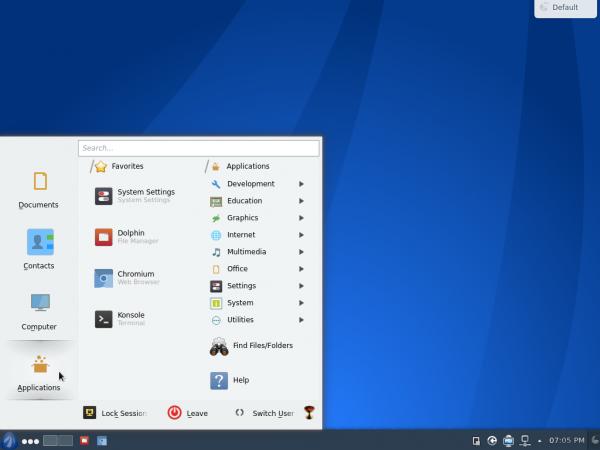 Antergos KDE Desktop Lancelot