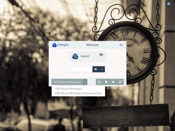 Antergos KDE Login