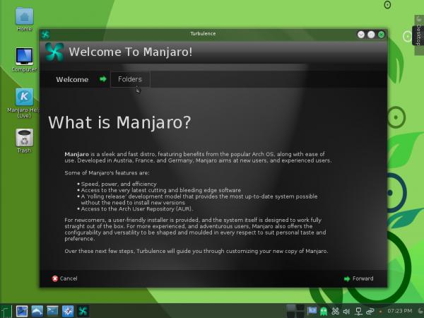 Manjaro 0.8.10 KDE Turbulence
