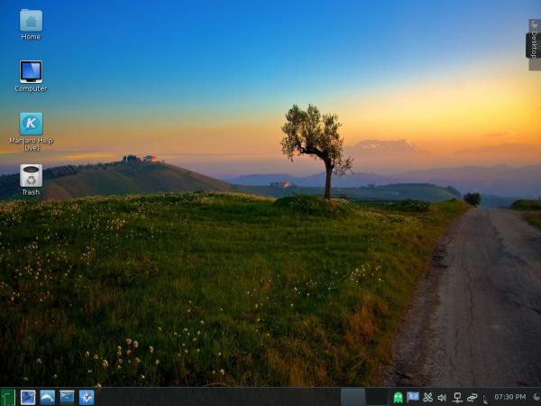 Manjaro 0.8.10 KDE desktop