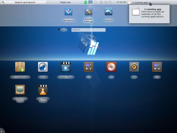 Manjaro 0.8.10 KDE netbook