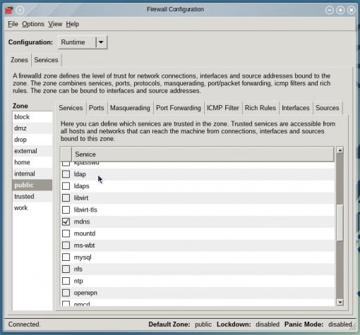 OpenMandriva Lx 2014 firewall-config