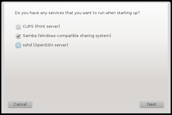 OpenMandriva Lx 2014 services