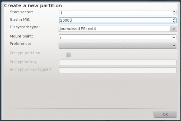 OpenMandriva disk encryption