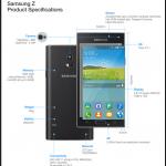 Samsung Z Tizen OS smartphone and Samsung Tizen OS TV SDK