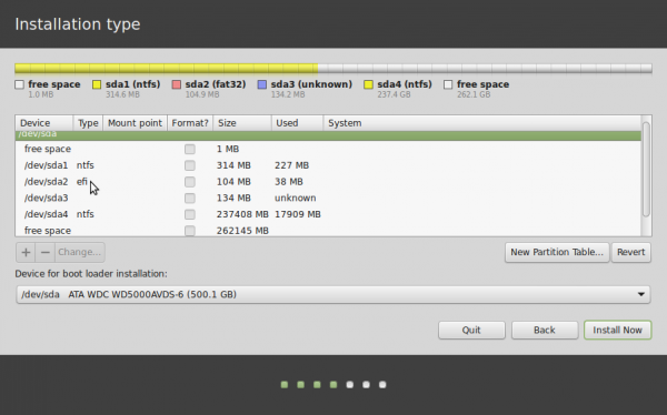 Linux Mint 17 advanced partition tool