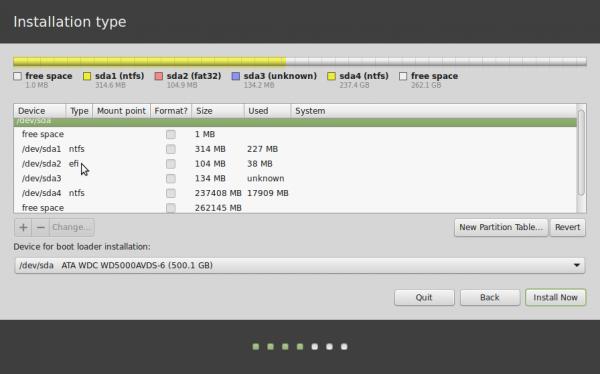 Linux Mint 17 advanced partition tool