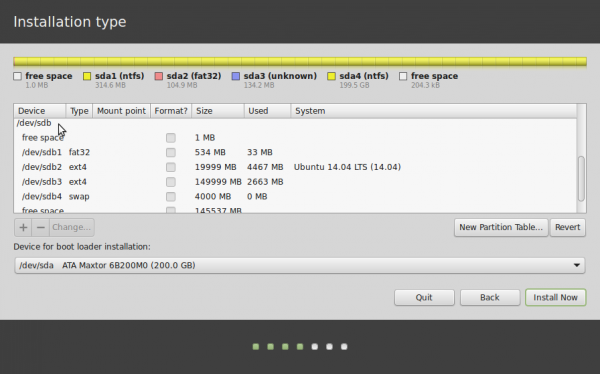 Linux Mint 17 partition tools