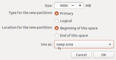 create Ubuntu 14.04 swap partition