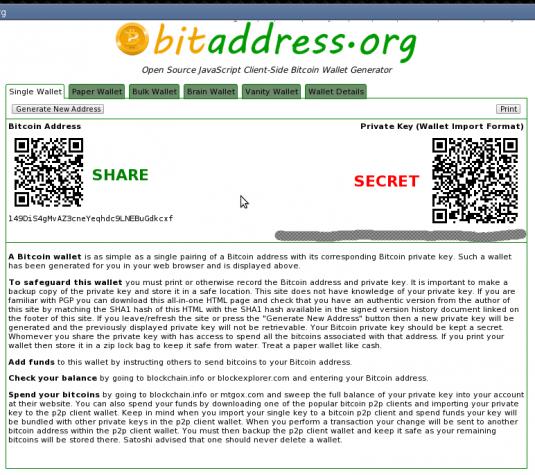BitKey bitcoin address