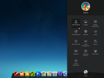 Deepin 2014 Control Center slides out from the right-edge of the desktop. It's simply the best.