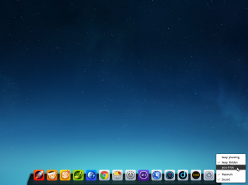 Deepin 2014 desktop showing the dock