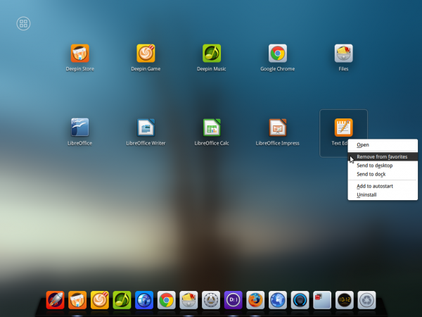 Deepin 2014 Launcher Favorites