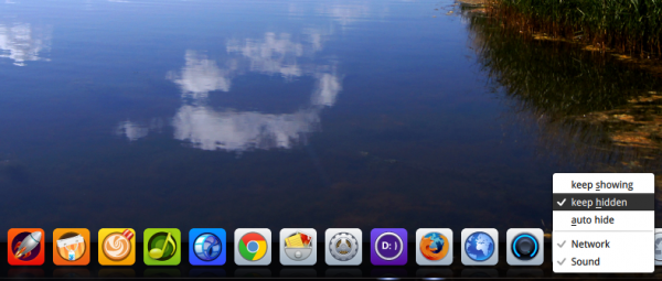 Deepin 2014 Dock auto-hide