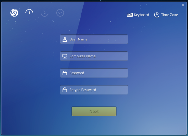 Deepin 2014 create user