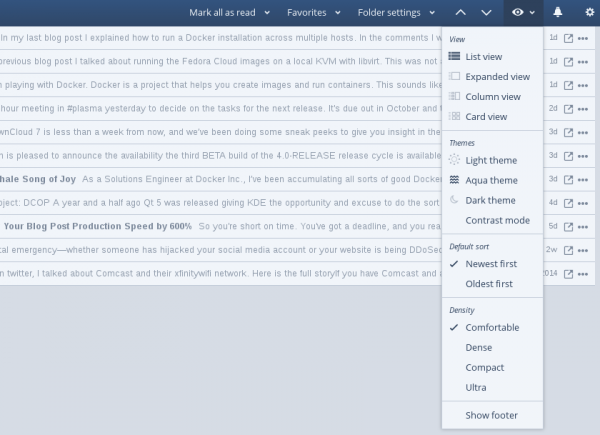 Inoreader RSS Feed client