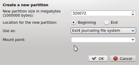 Linux Mint 17 KDE partition editor