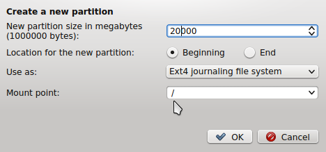 Manual disk partitioning guide for Linux Mint 17 KDE | LinuxBSDos