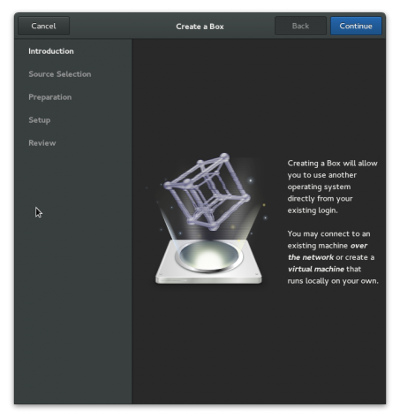Using GNOME Boxes to create and access local virtual systems on GNOME 3.14