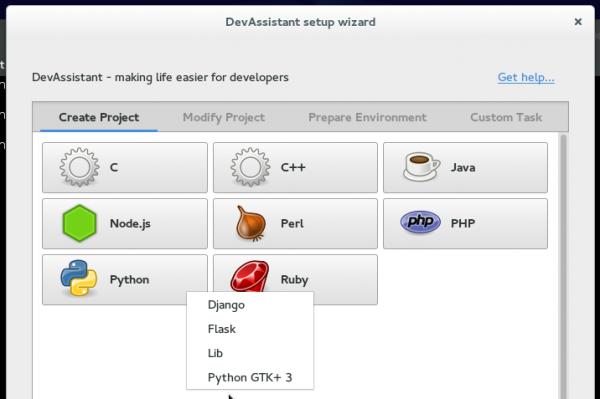 DevAssistant Python Django Flask